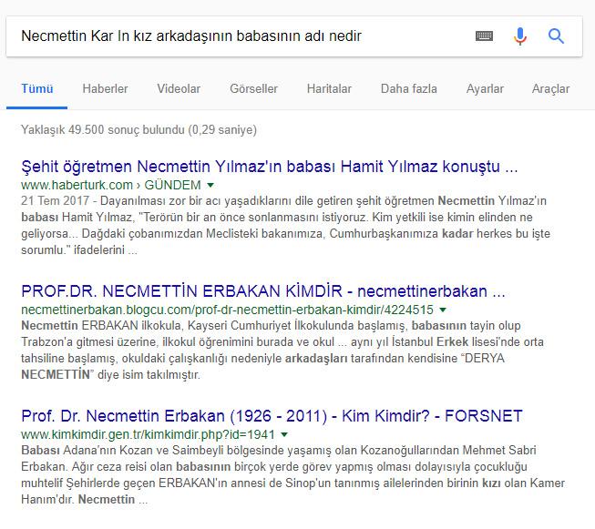 Google Derin Makale Sonuçları