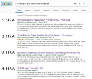 Google anti SEO ve Hacklink