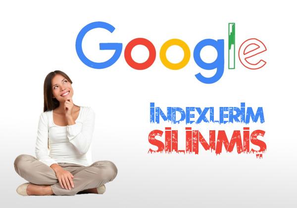 İndexleriniz Google'dan tamamen silindiyse